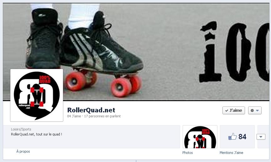 Rollerquad sur Facebook