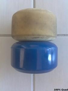 Classic K blanche usée comparée à bleue neuve