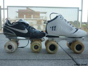 Comparaison Classic K 70mm sur chaussure de foot et 76mm sur chaussures de Lacrosse