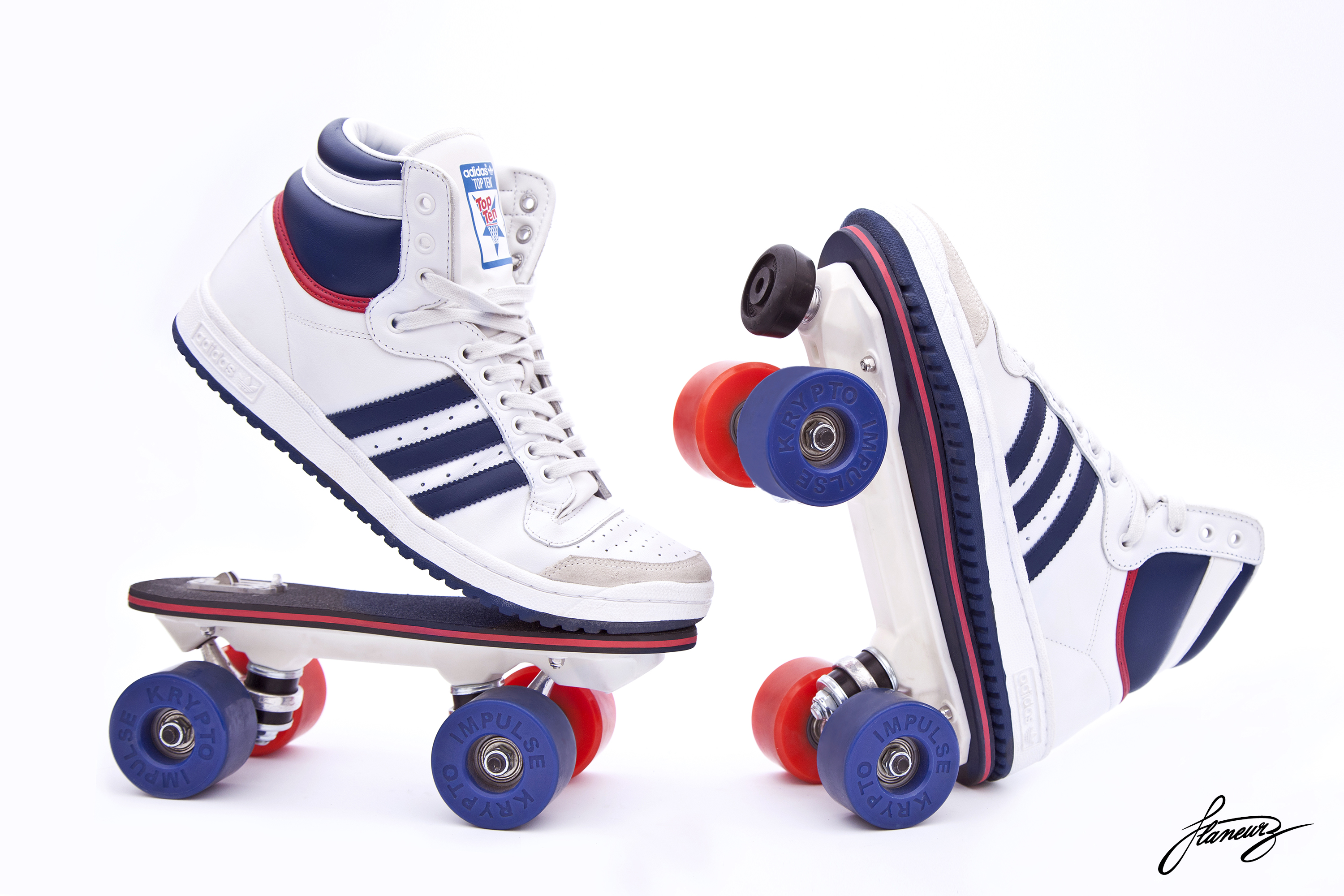 rollers chaussures adidas